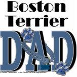 Boston Terrier DAD Photo Cutout