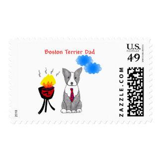 Boston Terrier Dad Stamp