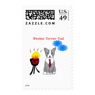 Boston Terrier Dad Postage