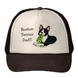 Boston Terrier Daddy with Tie 1 Hat
