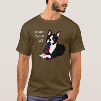 Boston Terrier Daddy with Tie 2 T-Shirt