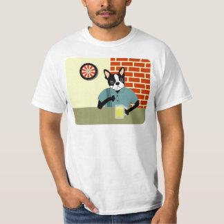 Boston Terrier Dartboard Beer Pub T-Shirt