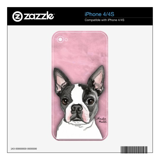 Boston Terrier Decals For iPhone 4S