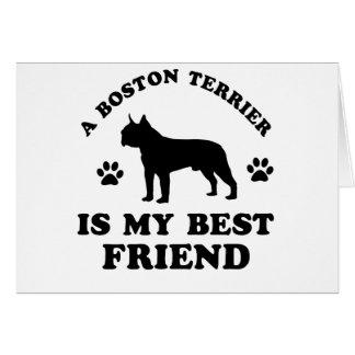 Boston Terrier designs Card