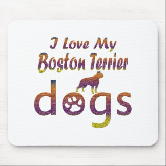 Boston Terrier designs Mouse Pad