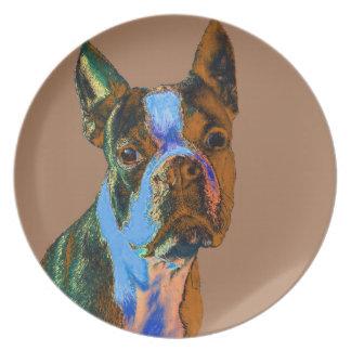 Boston Terrier Dinner Plate