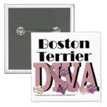 Boston Terrier Diva Buttons