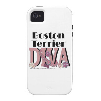 Boston Terrier DIVA Vibe iPhone 4 Cases