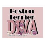 Boston Terrier DIVA Postcard