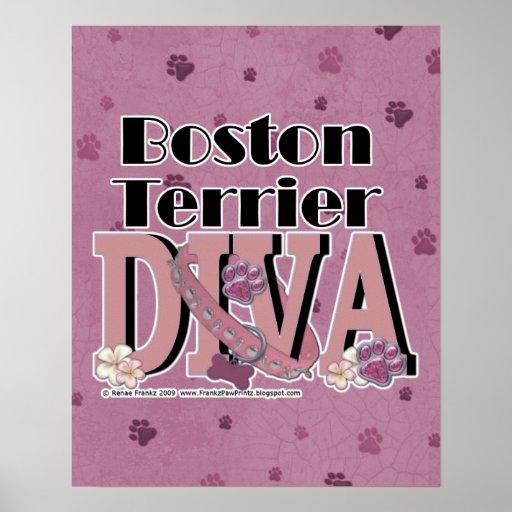 Boston Terrier DIVA Print