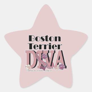 Boston Terrier DIVA Star Sticker
