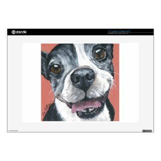 Boston Terrier Dog art Decals For Laptops