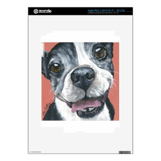 Boston Terrier Dog art iPad 3 Skins