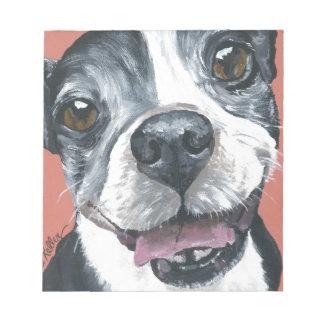 Boston Terrier Dog art Notepad