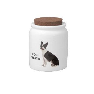 Boston Terrier dog beautiful custom treats jar Candy Jar