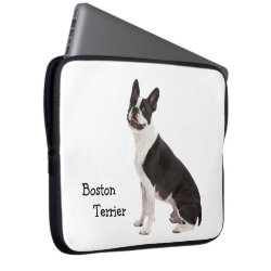 Boston Terrier dog beautiful photo, custom gift Laptop Sleeve
