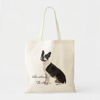 Boston Terrier dog beautiful photo custom tote Budget Tote Bag