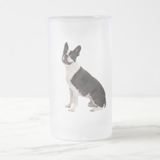 Boston Terrier dog beautiful photo glass mug gift