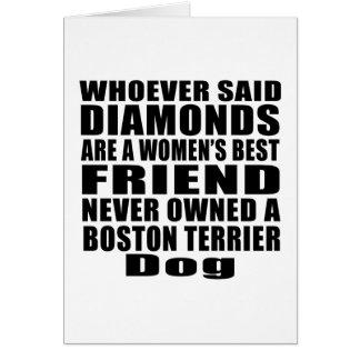 BOSTON TERRIER DOG BEST FRIEND DESIGNS CARD