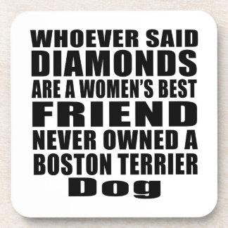 BOSTON TERRIER DOG BEST FRIEND DESIGNS DRINK COASTER