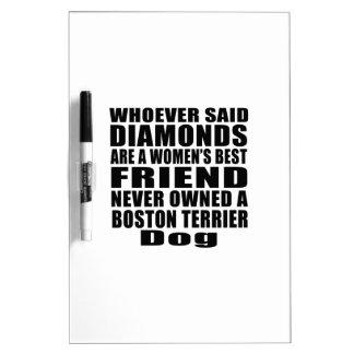 BOSTON TERRIER DOG BEST FRIEND DESIGNS Dry-Erase BOARD