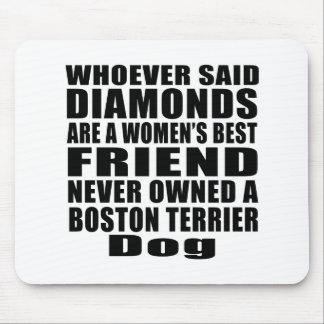 BOSTON TERRIER DOG BEST FRIEND DESIGNS MOUSE PAD