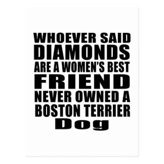 BOSTON TERRIER DOG BEST FRIEND DESIGNS POSTCARD