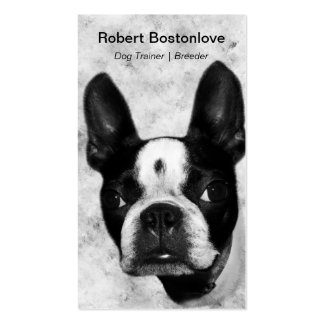 Boston Terrier Dog Double-Sided Standard Business Cards (Pack Of 100)