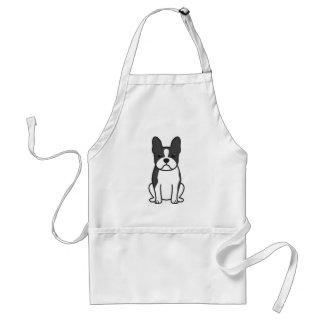 Boston Terrier Dog Cartoon Adult Apron