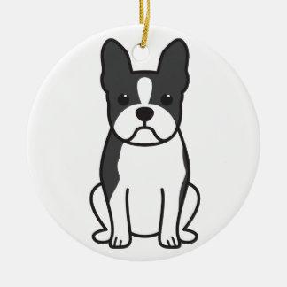 Boston Terrier Dog Cartoon Ceramic Ornament