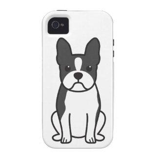 Boston Terrier Dog Cartoon iPhone 4/4S Cases