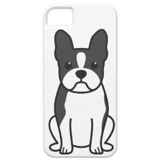 Boston Terrier Dog Cartoon iPhone SE/5/5s Case