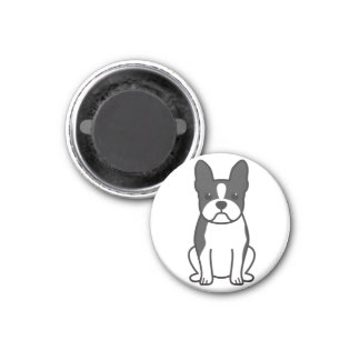 Boston Terrier Dog Cartoon Magnet