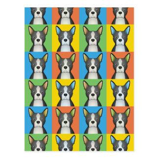 Boston Terrier Dog Cartoon Pop-Art Postcard