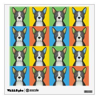 Boston Terrier Dog Cartoon Pop-Art Wall Sticker