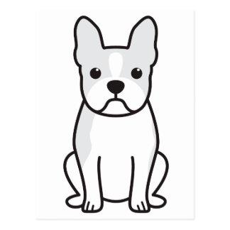 Boston Terrier Dog Cartoon Postcard