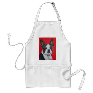 Boston Terrier Dog Colorful Art Cool Modern Adult Apron