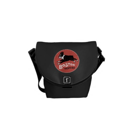 Boston Terrier Dog Cool Retro Style Courier Bag