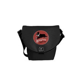Boston Terrier Dog Cool Retro Style Messenger Bags