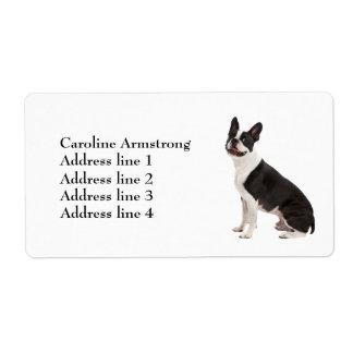 Boston Terrier dog custom address labels