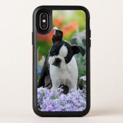 OtterBox Apple iPhone X Symmetry Case with Boston Terrier Phone Cases design
