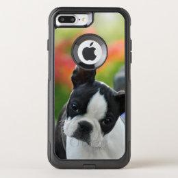 Boston Terrier Dog Cute Puppy Pet Photo - on OtterBox Commuter iPhone 8 Plus/7 Plus Case