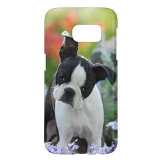 Boston Terrier Dog Cute Puppy Photo, Phonecase Samsung Galaxy S7 Case