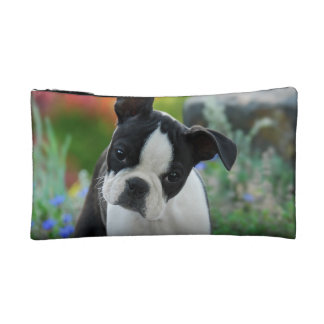 Boston Terrier Dog Cute Puppy, small Cosmetic Bag