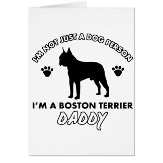 boston terrier Dog Daddy Card
