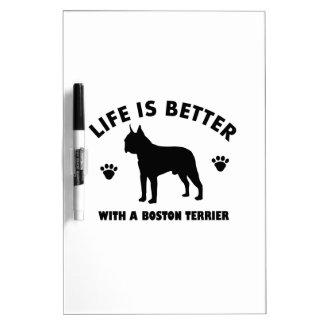Boston terrier dog design Dry-Erase board