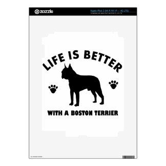 Boston terrier dog design iPad 3 decals