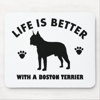 Boston terrier dog design mouse pad