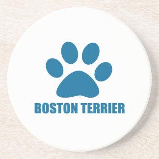 BOSTON TERRIER DOG DESIGNS COASTER