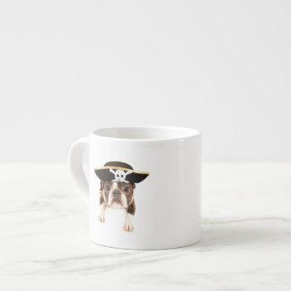 Boston Terrier Dog Dressed As A Pirate 6 Oz Ceramic Espresso Cup